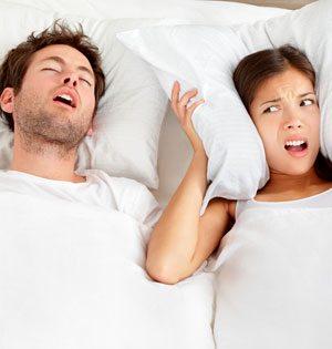 Snoring loud